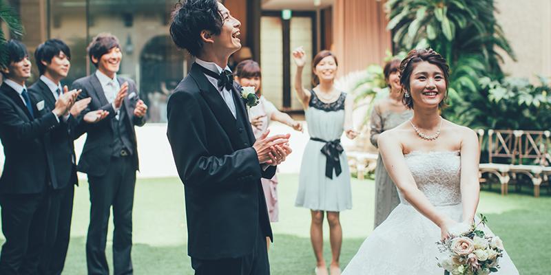 結婚式のブーケトス&ブーケプルズ